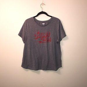 old navy super mom tshirt size xl